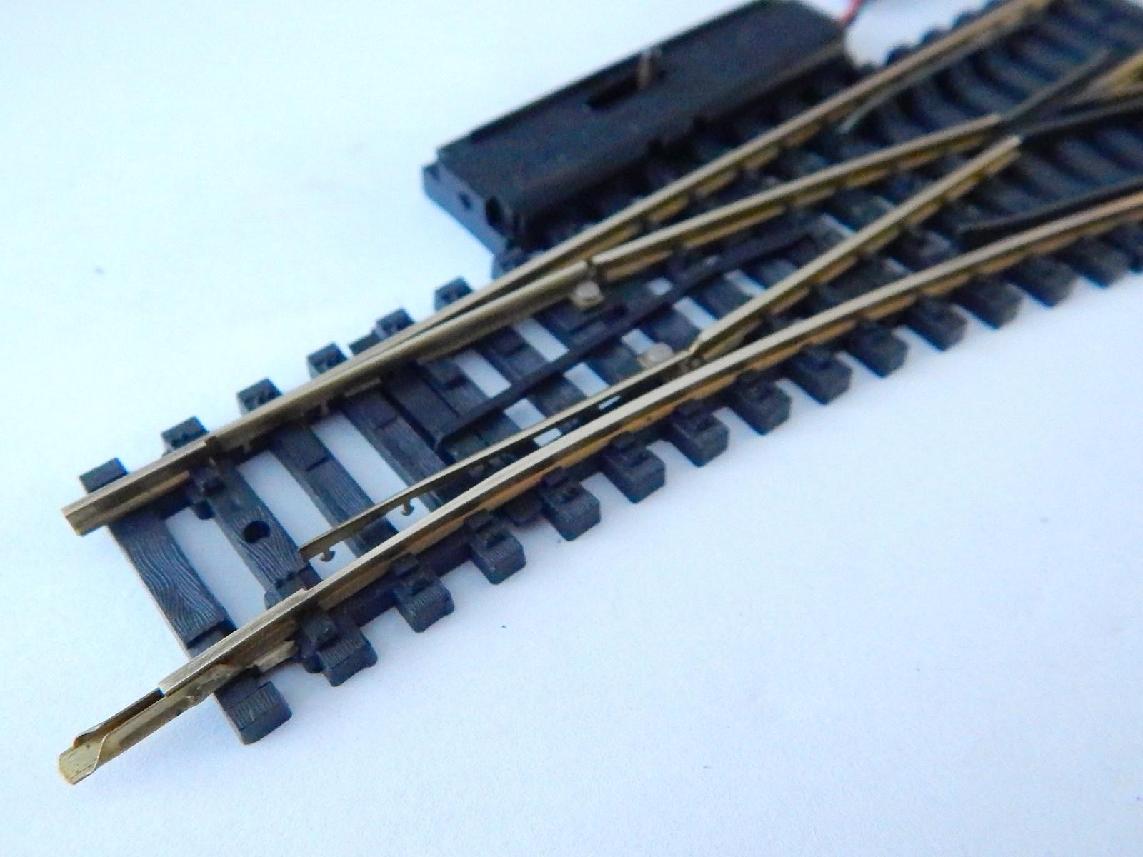 r 7367 1 aiguillage jouef rails laiton electrique droite. Black Bedroom Furniture Sets. Home Design Ideas