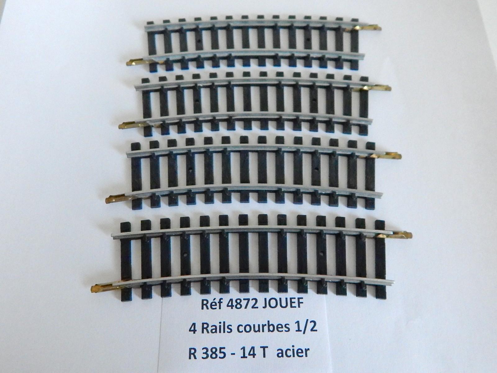 Rail Courbe 1//4 Voie JOUEF HO Ref 4874 R385-7 TRAVERSES